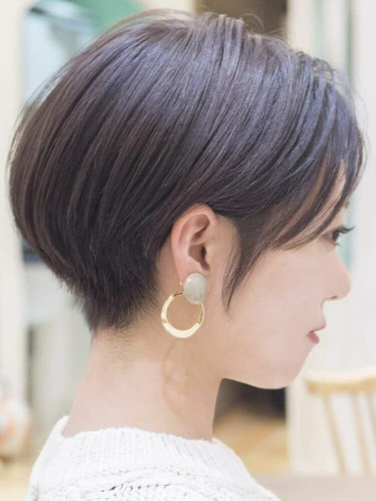 耳かけショートボブ・浦和の美容室トライベッカ荒巻充のショートヘアー、ショートカット