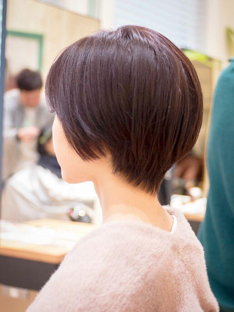 コンパクトなシルエットのショートボブ・浦和の美容室トライベッカ荒巻充のショートヘアー、ショートカット