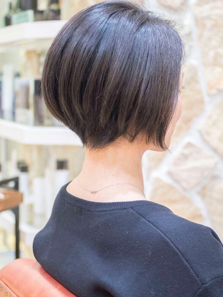 小顔ショートボブ・浦和の美容室トライベッカ荒巻充のショートヘア、ショートカット