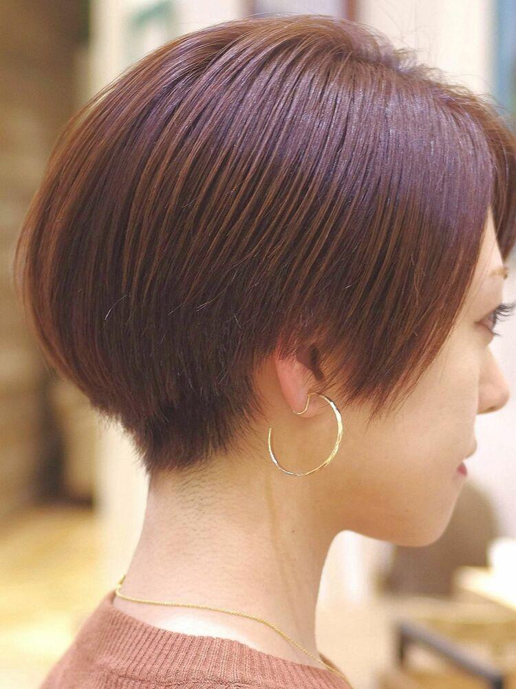 アクセサリーが映えるハンサムショート・浦和の美容室トライベッカ荒巻充のショートヘア、ショートカット