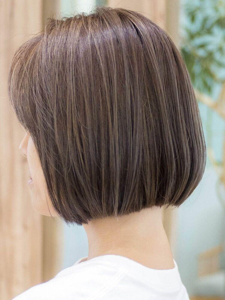 ワンカールボブ・3Dハイライトカラー・浦和の美容室トライベッカ荒巻充のショートヘア、ショートカット