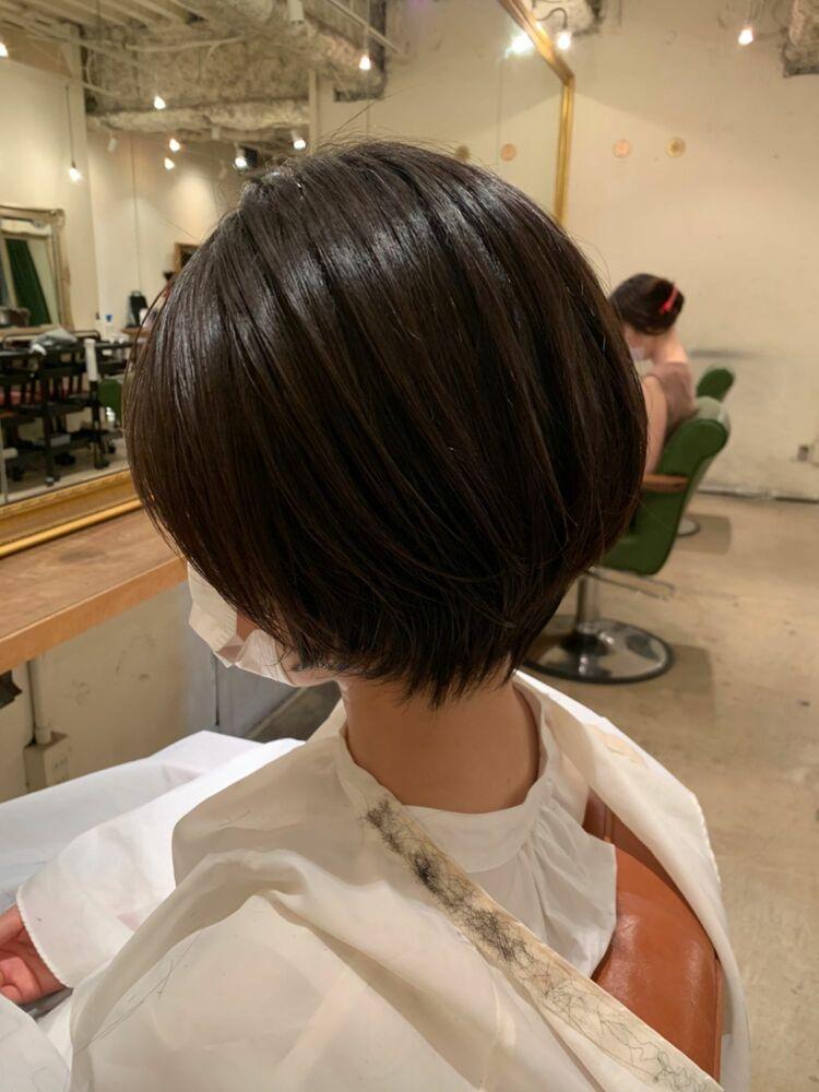 自毛に見える縮毛矯正×ショートボブ