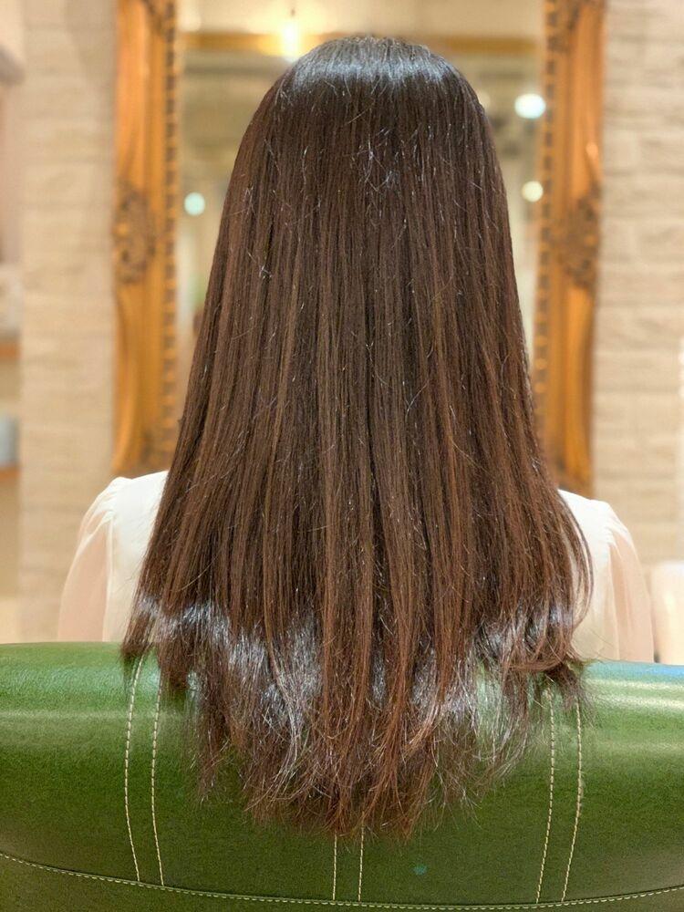 ナチュラルブルージュ系カラー・髪質改善