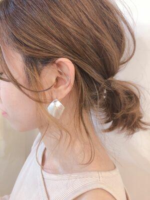 ♡大人ハイライト♡インナーカラー♡ミルクティーベージュ♡アレンジ♡@yumikomatsumori