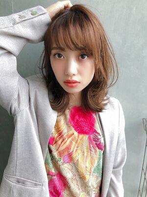 ♡ひし形♡くびれロブ♡レイヤー♡外ハネ♡@yumikomatsumori