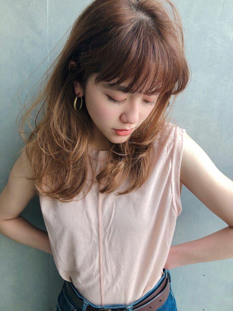 ♡レイヤー♡くびれミディ♡ワンカール♡パーマ♡ @yumikomatsumori