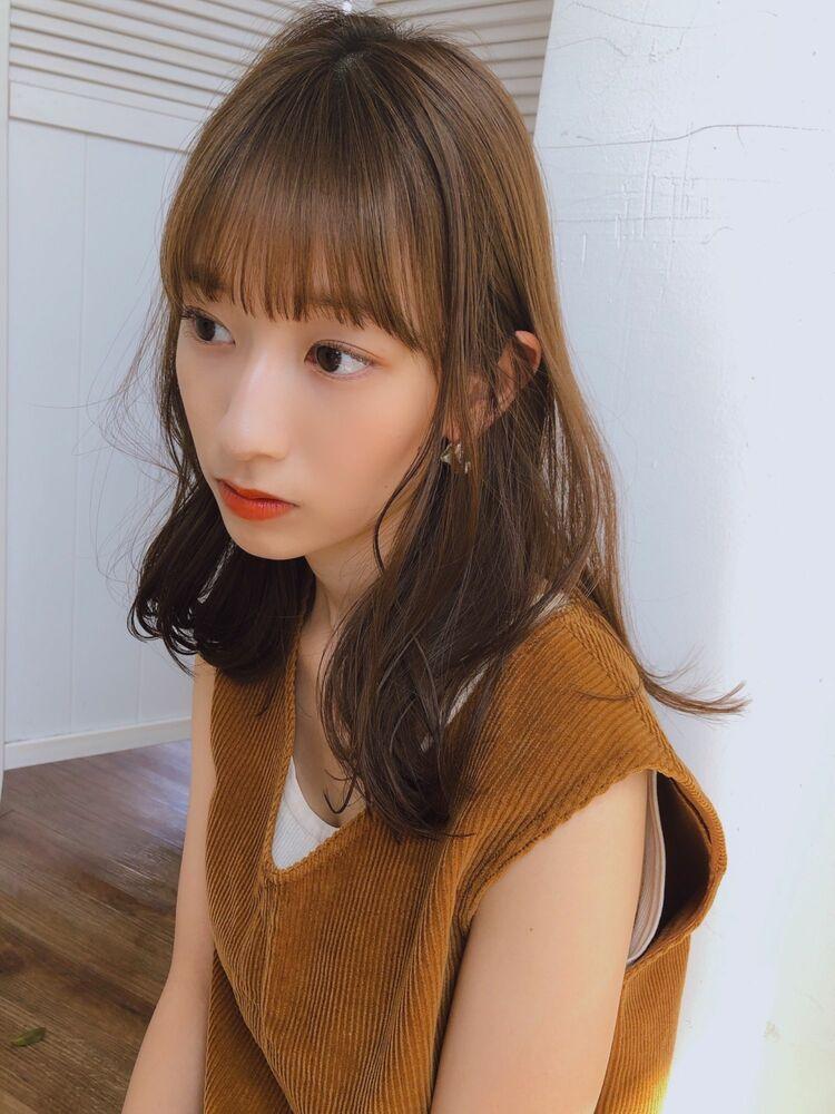 ♡パーマ♡セミディ♡前髪♡シースルーバング  ♡yumikomatsumori