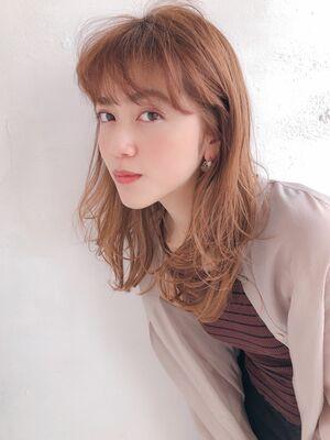 ♡レイヤー♡セミロング♡毛先パーマ♡シースルーバング  ♡@yumikomatsumori