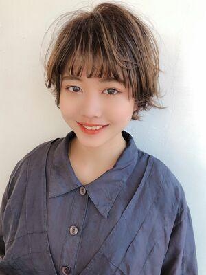♡マッシュ♡ショート♡レイヤー♡アプリコット♡@yumikomatsumori