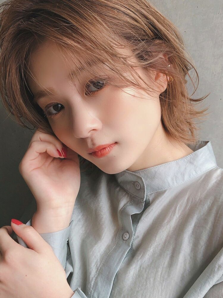 ♡ショート♡毛先パーマ♡ほつれカール♡レイヤー♡ @yumikomatsumori