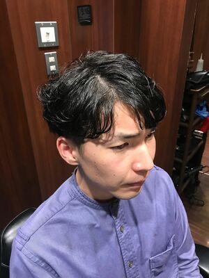 王道ひし形パーマ🦱黒髪がインスタで映えます‼️