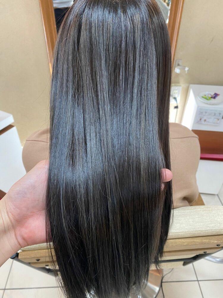 髪質改善 サイエンスアクア×ハイライト