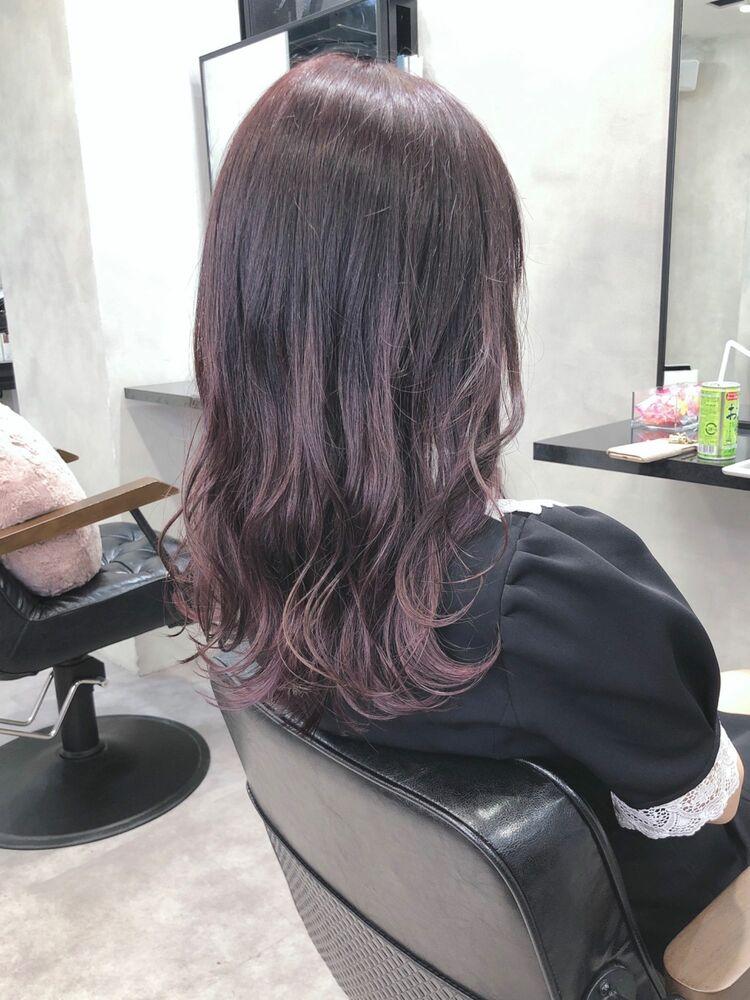 可愛い雰囲気のピンクバイオレットカラー*
