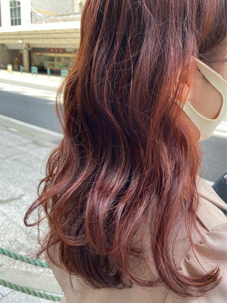ピンクオレンジカラー