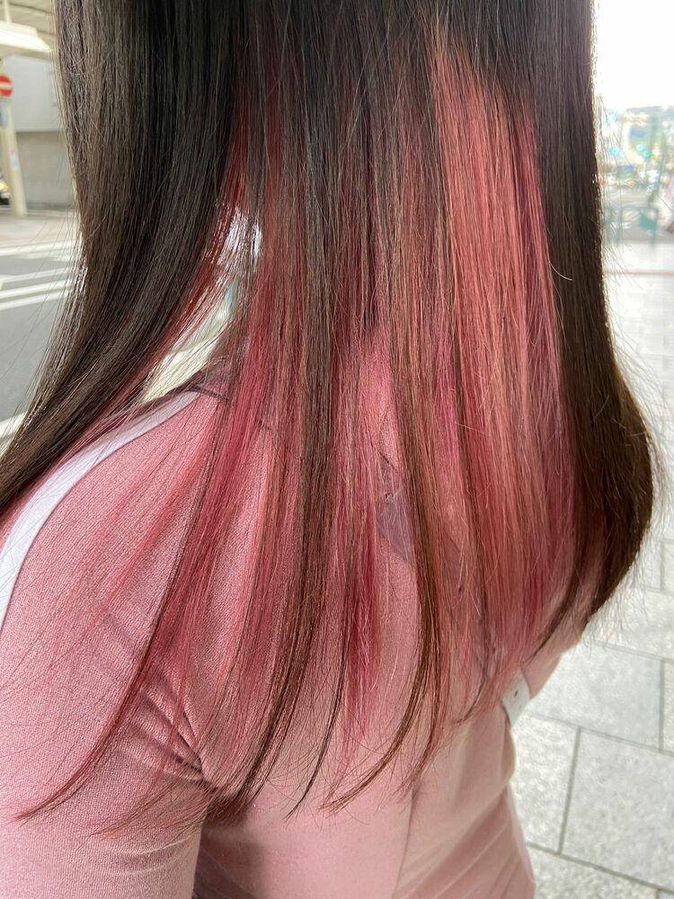 ピンク インナーカラー