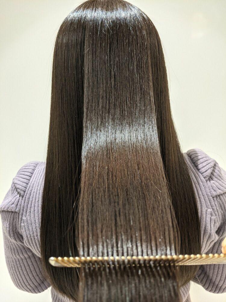 髪質改善酸熱トリートメント×イルミナカラー×グレージュ トーンダウン 芯から輝くツヤ髪に!