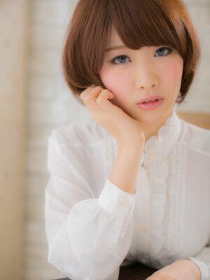 ☆髪質改善×おろし前髪×ショートボブ×愛されバング×ベージュ×丸みショート☆