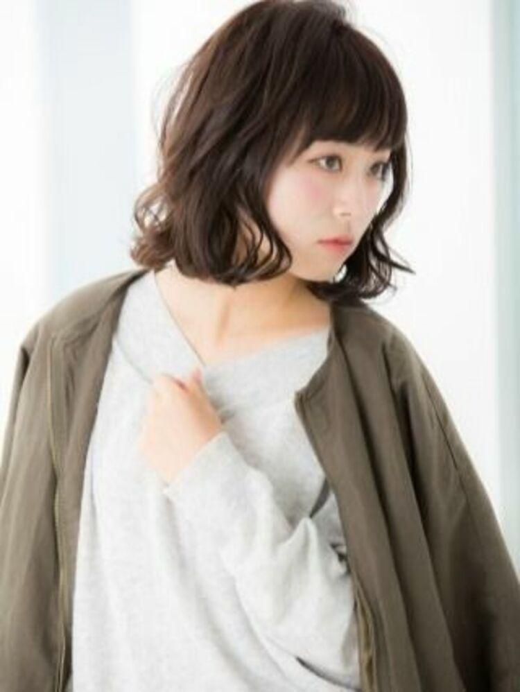 ☆髪質改善×黒髪×ボブパーマ×簡単スタイリング×重め前髪×バレイヤージュ☆