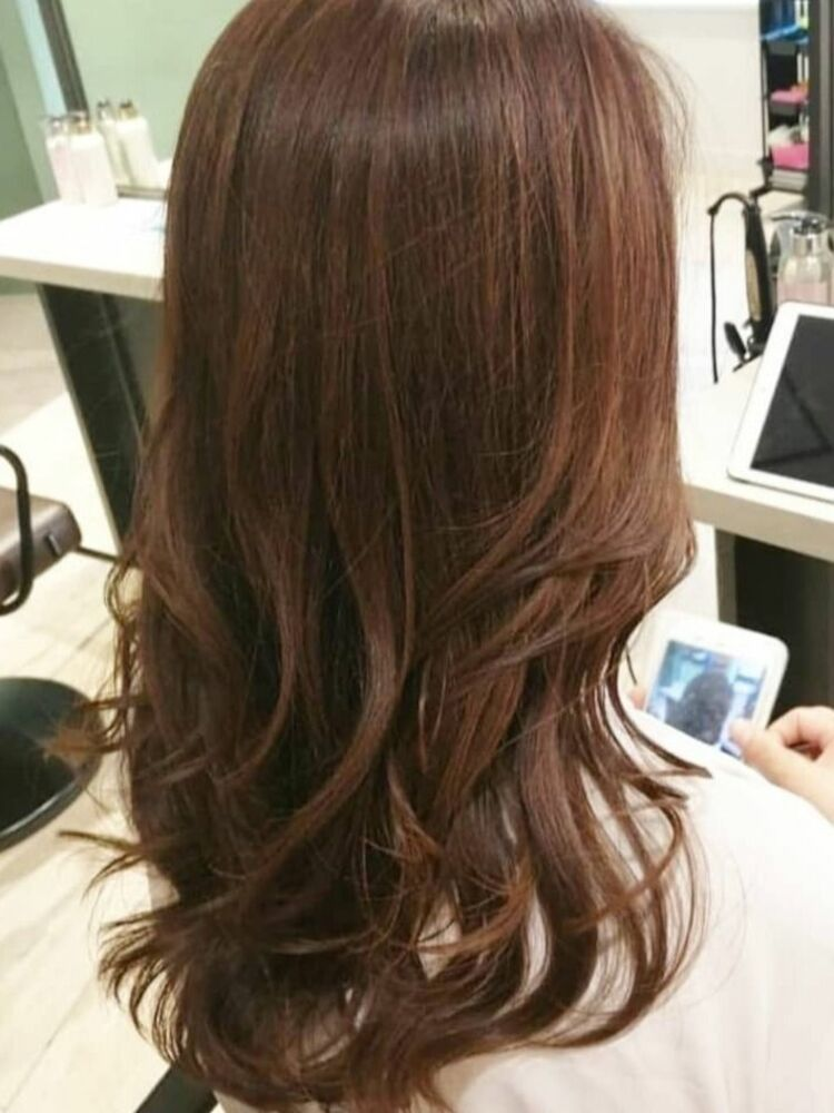 ☆髪質改善×大人ウェーブ×明るい白髪染め×トリートメントパーマ☆