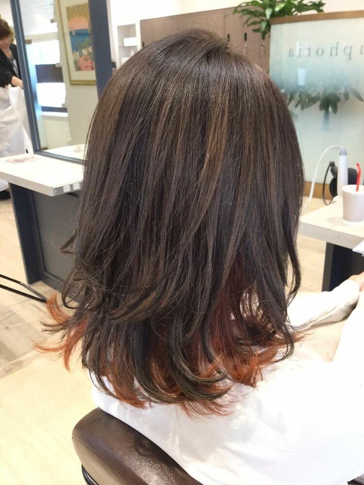 ☆髪質改善×インナーカラー×オレンジ×ワンカール×小顔効果×頭皮診断☆