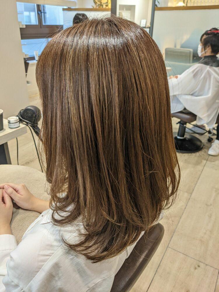 20代30代40代 髪質改善トリートメントで大人かわいいベージュ系に◎ハイライトでグレイカラーも♪