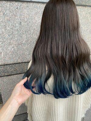 裾カラーブルー