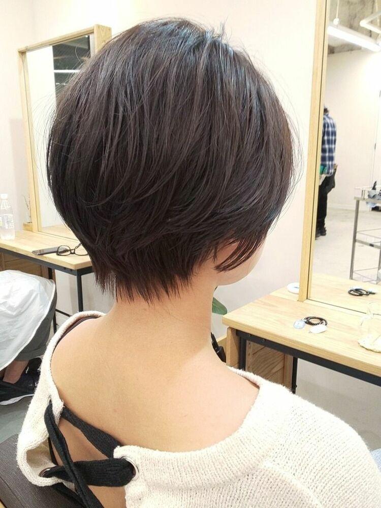 大人可愛い/無造作ぱーま/ショートボブ