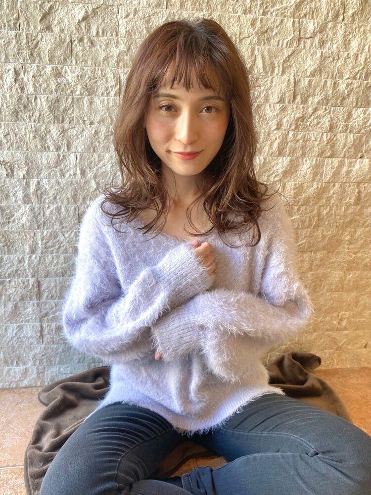愛され女子♡ レイヤーセミロングヘア × ゆるふわ低温デジタルパーマ