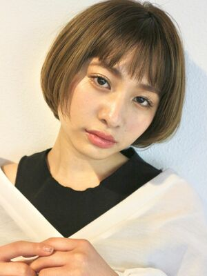 束感前髪 × シンプルマッシュショートヘア★