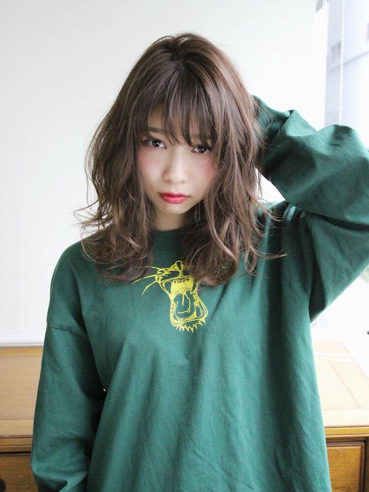 ひし形 レイヤー モテ髪