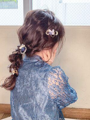 カジュアル 美女編みおろし