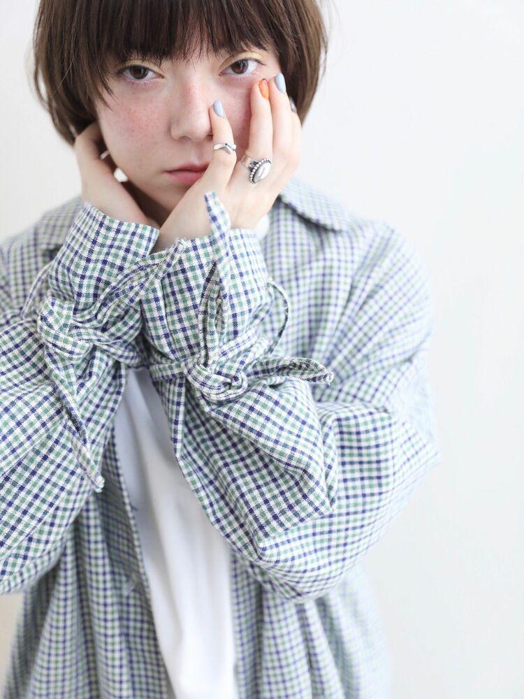 レイヤーショート/抜け感バング/美フォルム