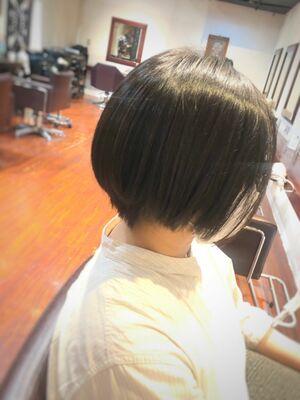 オトナショートボブ/黒髪スタイル/オフィスOK!/カット5500円