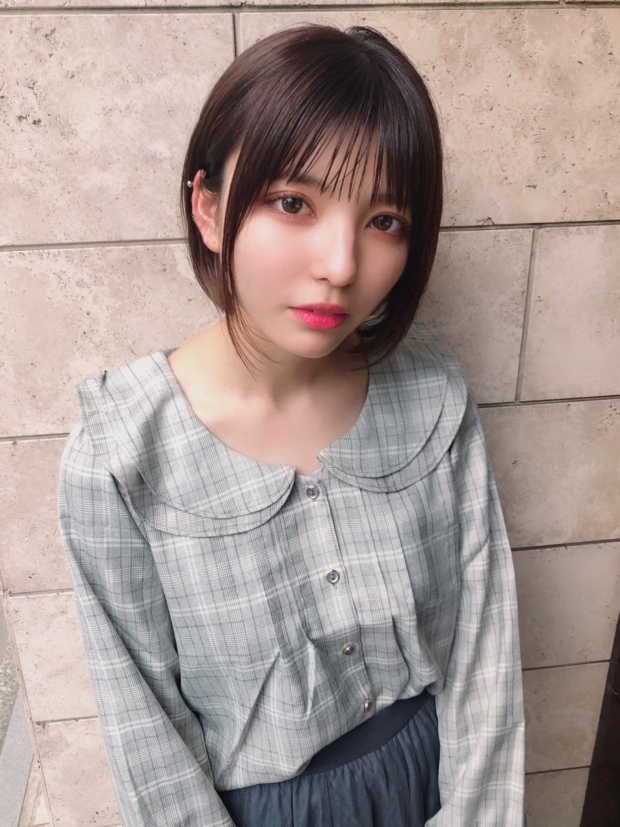 表参道 アフロート ぱっつんシースルーバングナチュラルボブ