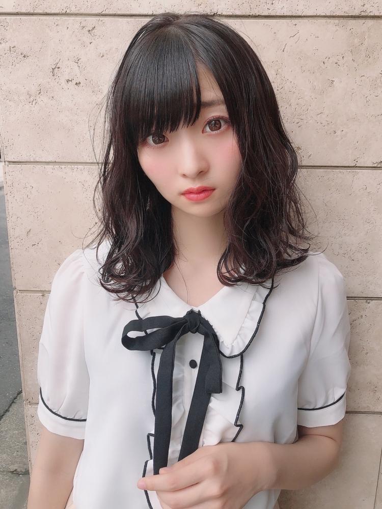 表参道 アフロート 黒髪 暗髪 ふんわりヘア