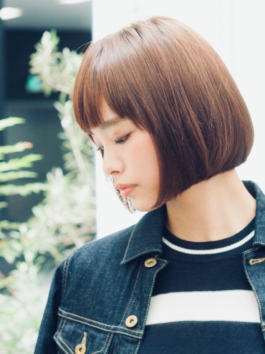 銀座MINX鈴木/銀座一丁目徒歩1分 ナチュラルで、クールなミディアムボブ縮毛矯正/髪質改善