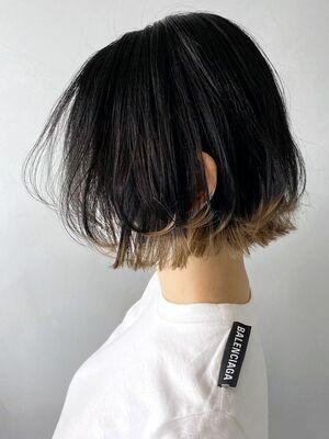 裾カラーボブ_ba305491