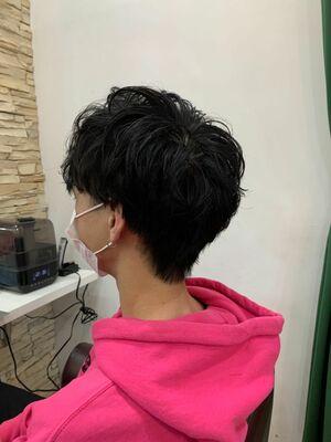 メンズニュアンスパーマ 武蔵新城美容室EGOメンズカット松波光男