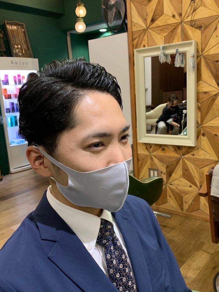 スーツ似合わせバーバースタイル 武蔵新城美容室EGOメンズカット松波光男