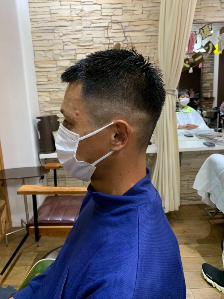 刈り上げグラデーション 武蔵新城美容室EGOメンズカット松波光男