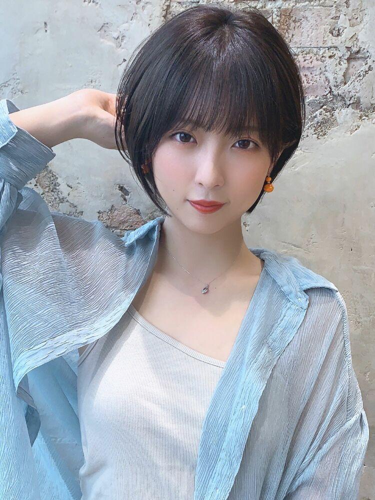 ●大人かわいい小顔ショートボブショートヘア30代40代50代新宿