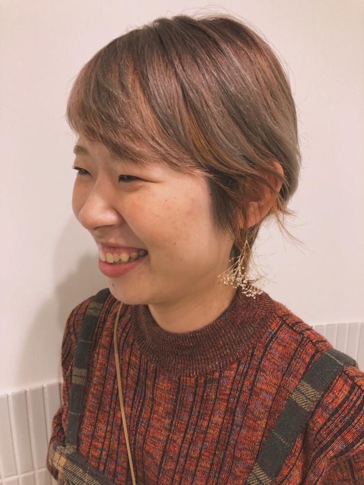 fiorista表参道駅徒歩3分秋冬のトレンド!くすみ系オレンジカラー