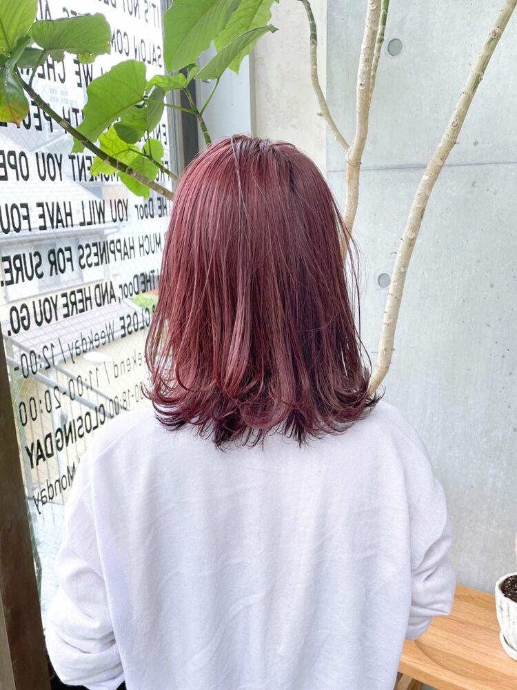 1回のブリーチ出来る フラミンゴピンク〜お客様スタイル〜