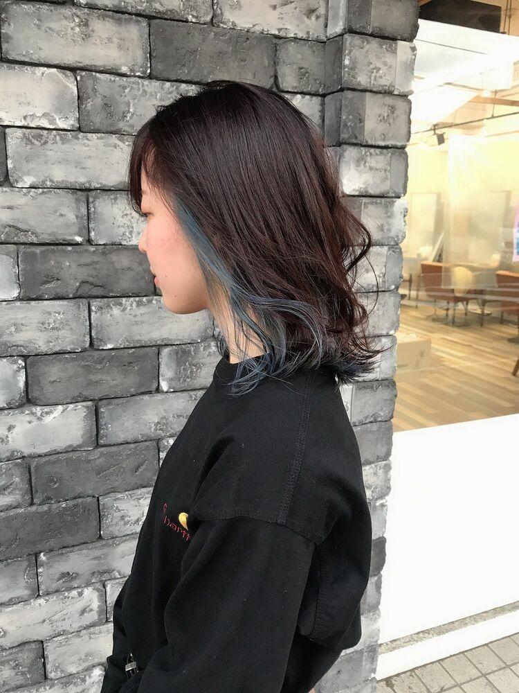 【似合わせボブ&デザインカラー】ブルー2