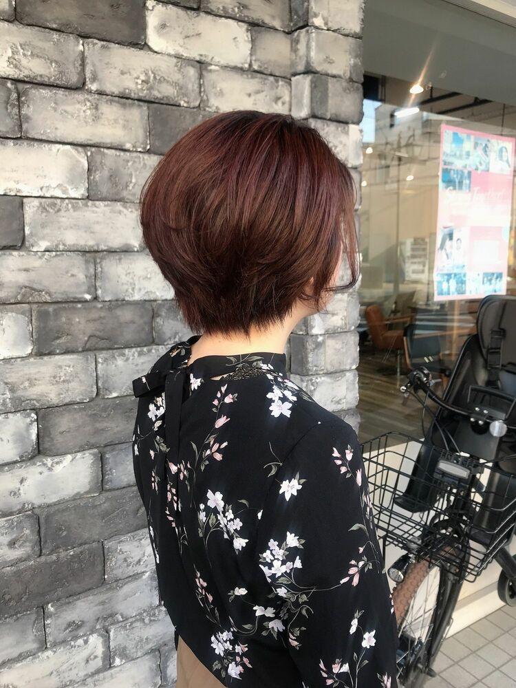 【似合わせの魔術師】レッドオレンジ オフィスショート[柏/柏駅]