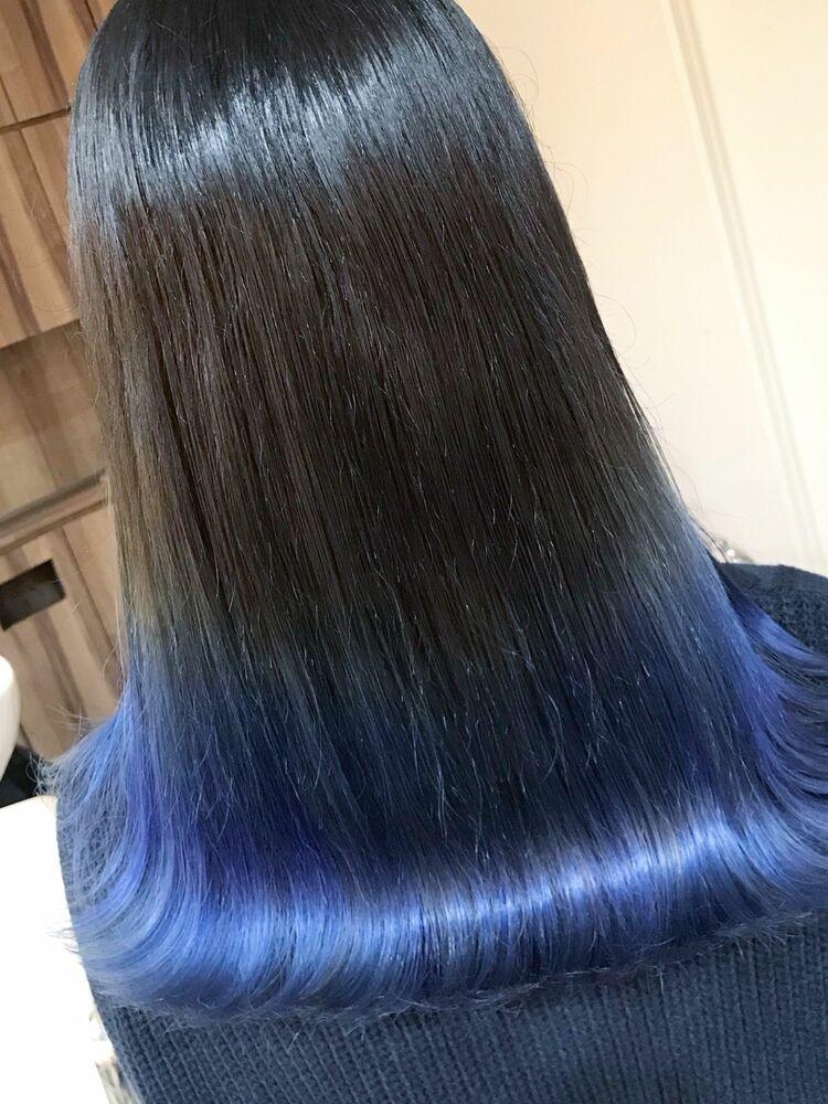 グラデーションカラー×ブルー