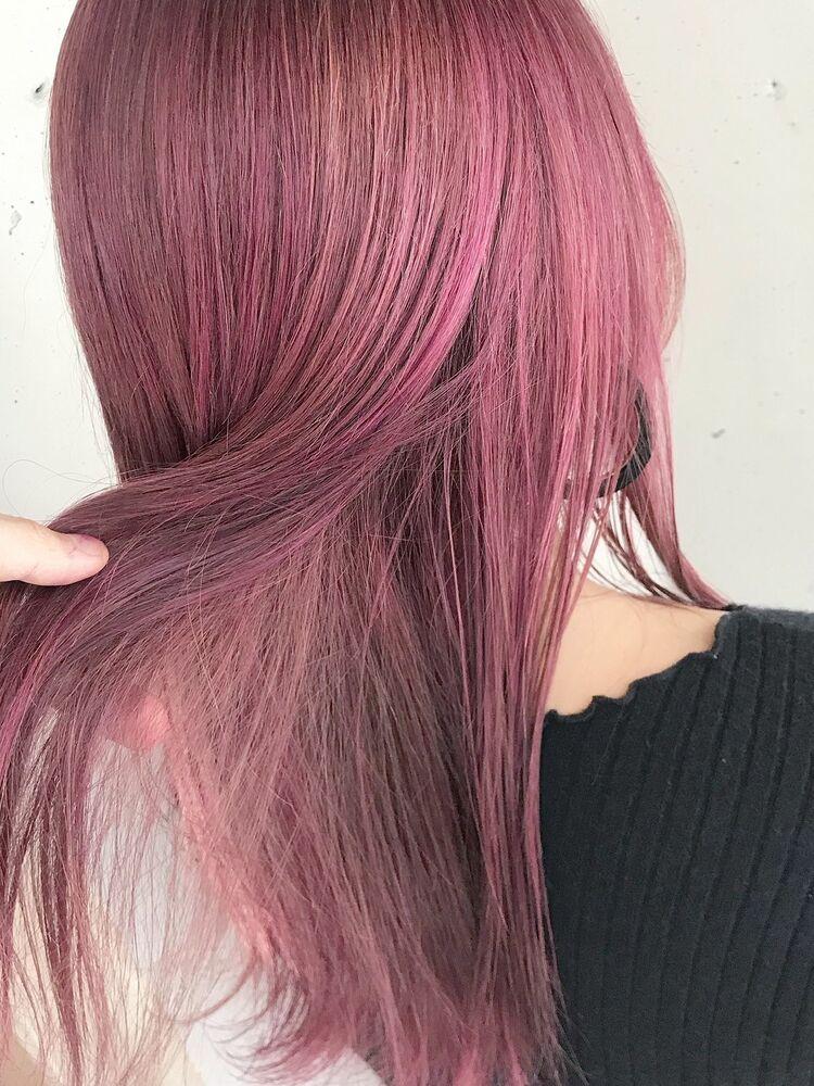 ハイトーンのピンクカラー