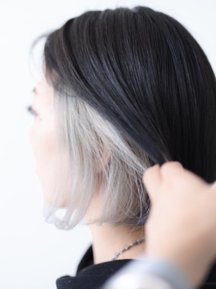透け感ホワイトインナーカラー/vicca 'ekolu井上