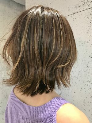 out side bobcolour✖︎highlight ash beige