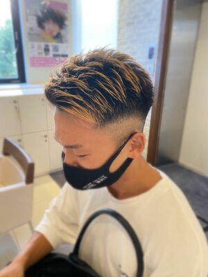 MEN'S HAIR フェード×サイドバング